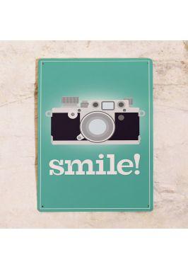 Жестяная табличка Smile