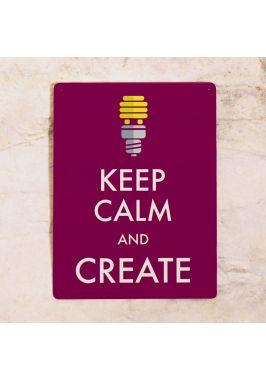 Жестяная табличка Create