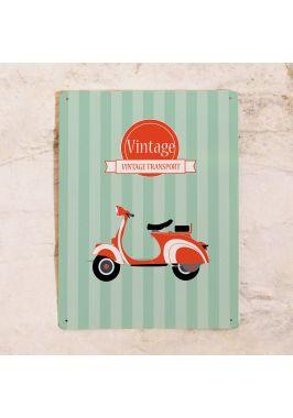 Жестяная табличка Vintage transport