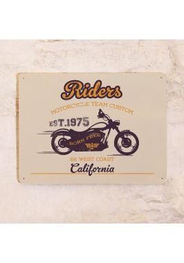 Жестяная табличка Riders