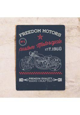 Жестяная табличка Freedom motors