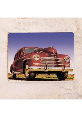 Жестяная табличка для гаража Retro car