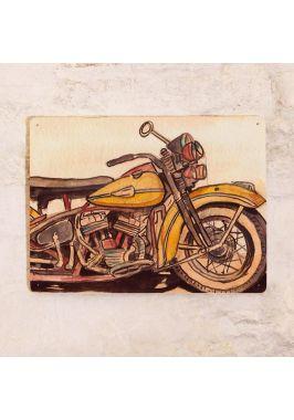 Жестяная табличка для гаража Мотоцикл