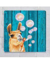 Табличка Лама и мыльные пузыри