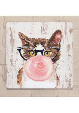 Картина для детской Кот с жвачкой