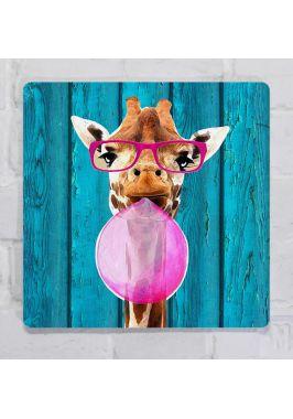 Картина на металле Жираф и жвачка