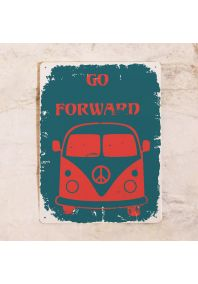 Металлическая табличка  Go forward