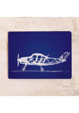 Жестяная табличка Plane#3