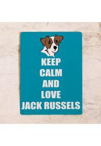 Декоративная табличка Love Jack russels