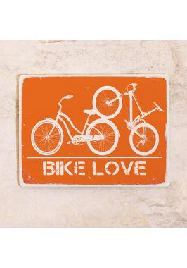 Жестяная табличка Bike love
