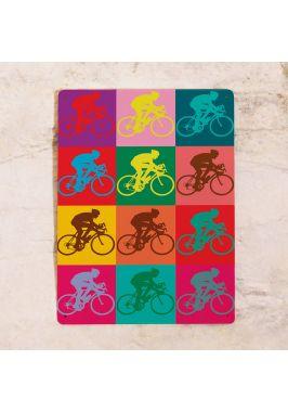 Жестяная табличка Велосипедный поп арт