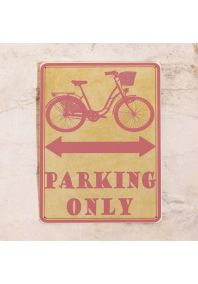 Парковочная табличка для женского велосипеда