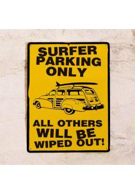 Жестяная табличка Surfer parking