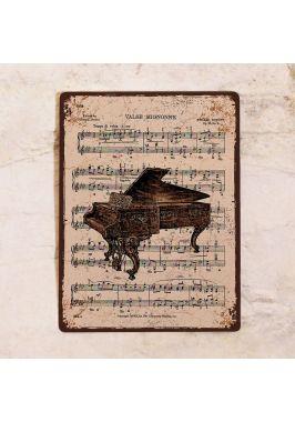 Табличка  Рояль и ноты