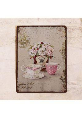 Табличка  Винтажное чаепитие