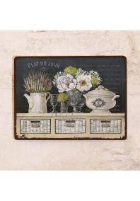 Натюрморт с грифельной доской и лавандой