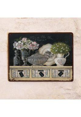 Декоративная табличка Натюрморт с грифельной доской