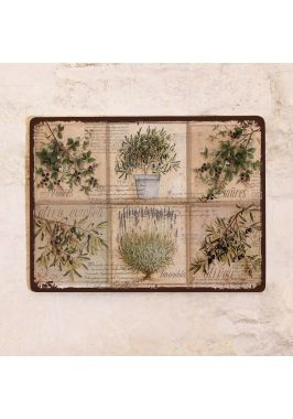 Декоративная табличка Прованс растения и ягоды