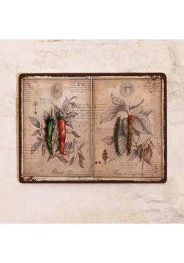 Жестяная табличка Острые перцы