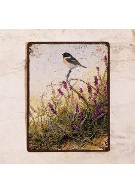 Жестяная табличка Птичка в лаванде