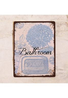 Табличка для ванной Bathroom в стиле прованс