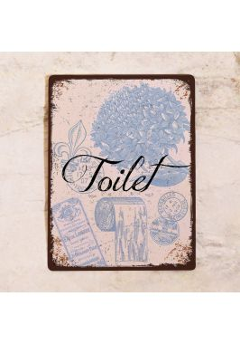 Табличка для туалета Toilet в стиле прованс