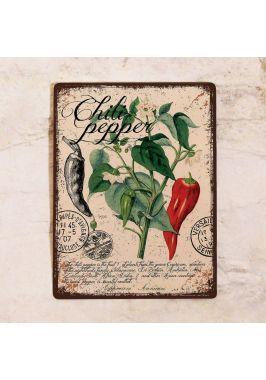 Жестяная табличка Прованс перец чили