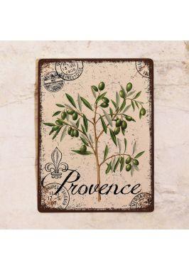 Жестяная табличка Прованс ветвь оливы