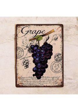 Табличка  Прованс виноград