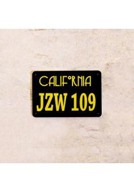 Автомобильный номер Калифорния