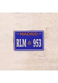 Автомобильный номер Madrid