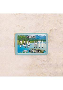 Американский номер на машину Мичиган
