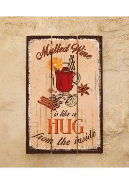 Картина из дерева Mulled wine