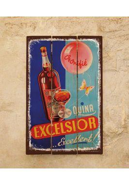 Деревянная табличка Excelsior