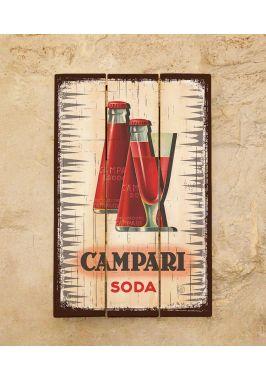 Деревянное панно Campari