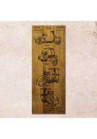 Vespa patent 30x80см