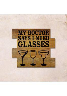 Дубовое панно Glasses