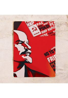 Жестяная табличка Ленин