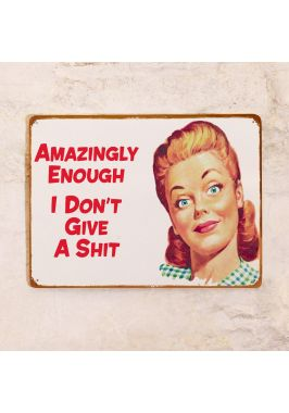 Жестяная табличка Мне все равно