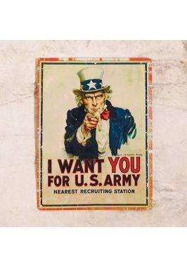 Жестяная табличка Uncle Sam