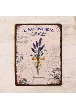 Жестяная табличка Lavender