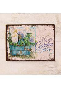 Жестяная табличка My little Garden