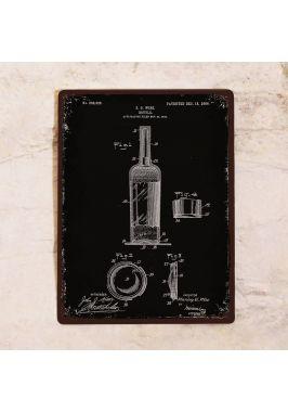 Жестяная табличка Патент винной бутылки