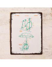 Яркий чертеж зонта