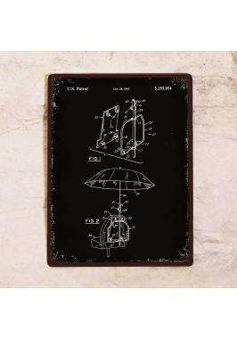 Жестяная табличка Патент зонта
