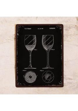 Жестяная табличка Патент винного бокала