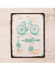 Яркий чертеж велосипеда