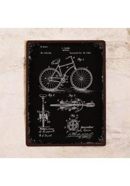 Жестяная табличка Патент велосипеда