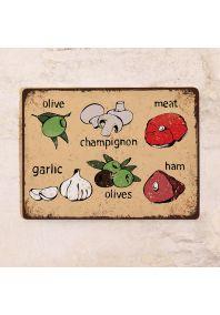 Декоративная табличка Итальянская кухня