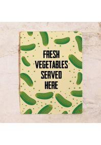 Декоративная табличка Fresh vegetables